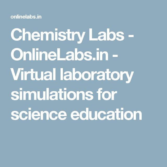 Chemistry Labs - OnlineLabs.in - Virtual laboratory simulations for science education