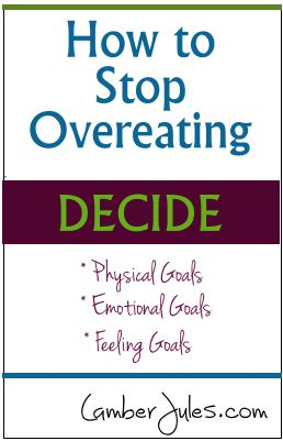 How to Stop Overeating - Weight Loss Blog | LamberJules.com