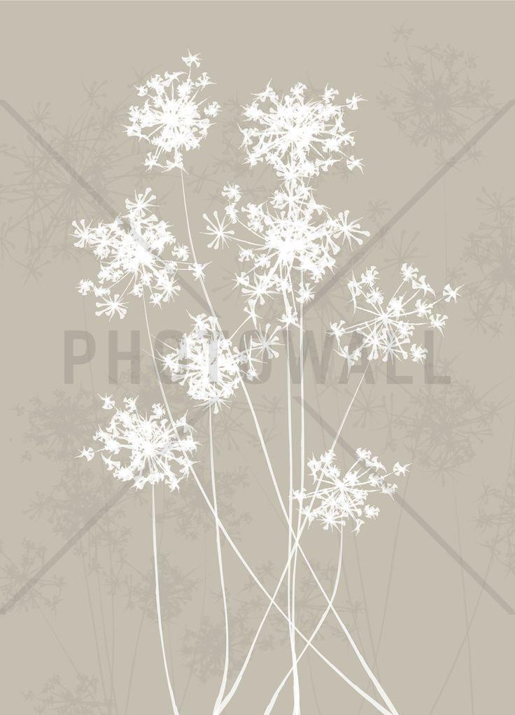 Dandelions - Beige Fototapeter & Tapeter