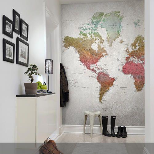 "Fototapete ""School Atlas, Rainbow"" aus unserer Kollektion Maps"