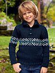 Вязаный спицами пуловер для мальчика от Bergère de France