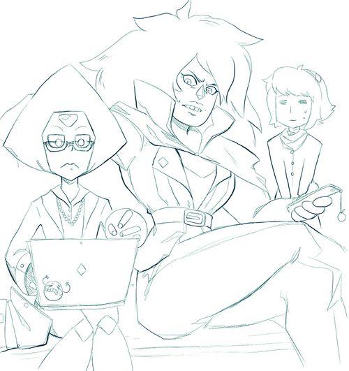 Peridot, Jasper, Lapis Steven universe su homeworld gems | Cartoon Network animation fanart