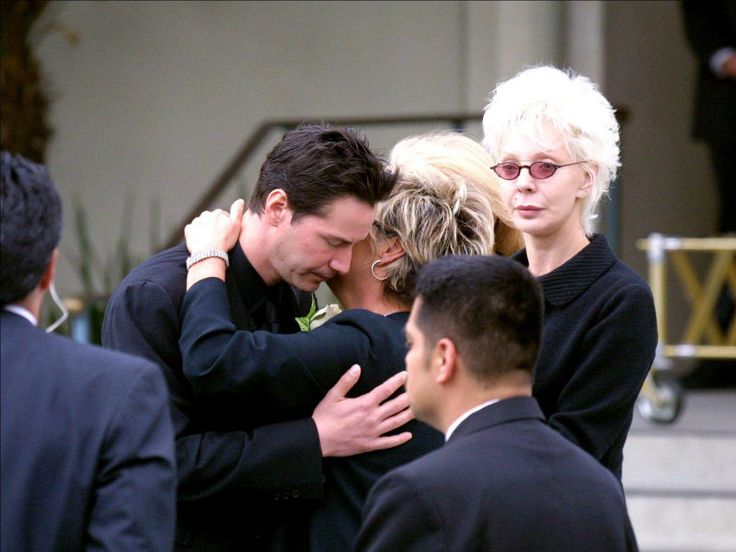 Keanu Reeves at Funeral Jennifer Syme