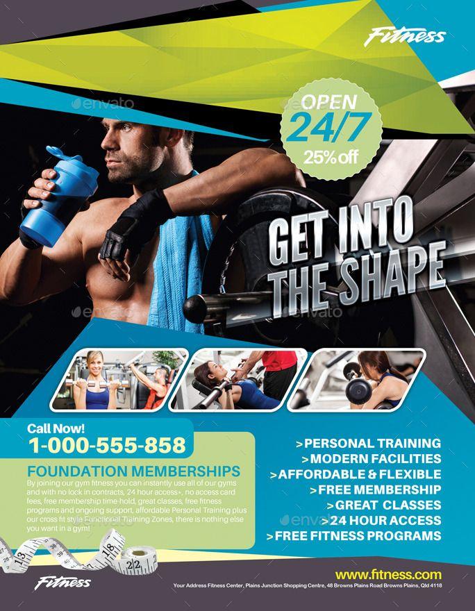 Carte De Visite Fitness Flyer Bundle Business Card