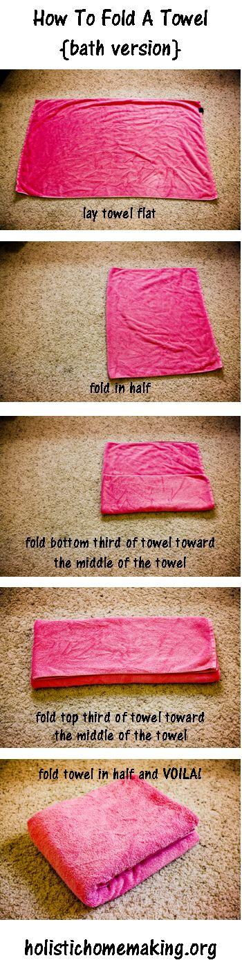 How To Fold A Towel Tutorial {Bath & Beach}
