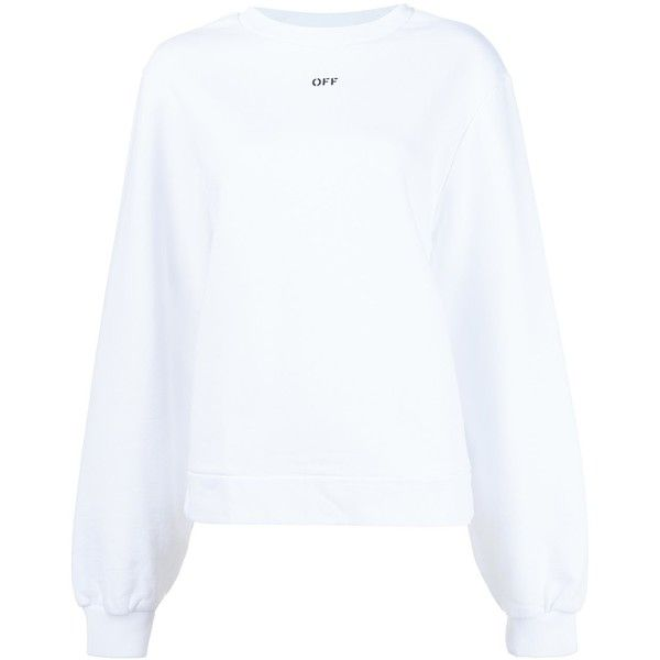 Off-White Cross-Strap Back Sweatshirt ($510) ❤ liked on Polyvore featuring tops, hoodies, sweatshirts, white, white top, off white tops, white sweatshirt, cotton sweatshirts and white cotton tops