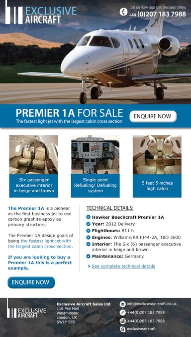 Private Jet Sales Email Template by SFicu