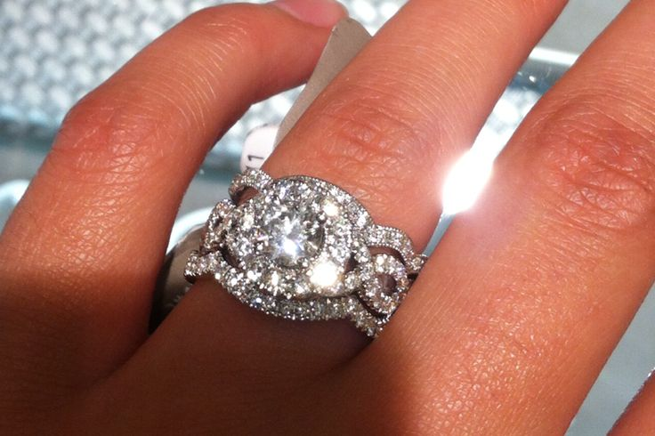 Neil Lane 2 carat diamond engagement with wedding band. literally my dream ring on my finger* :D