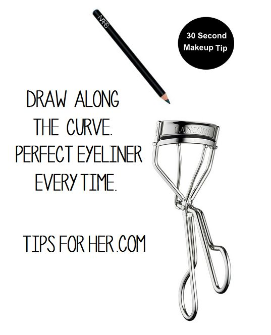 30 Second Makeup Tip - Perfect Eyeliner Every Time