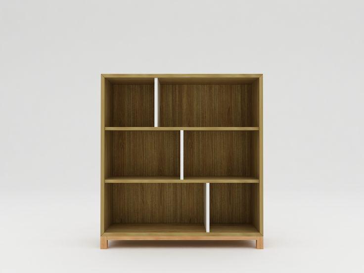 Minimalist modern furniture - Rak Kayu Minimalis - White Elegant Teak