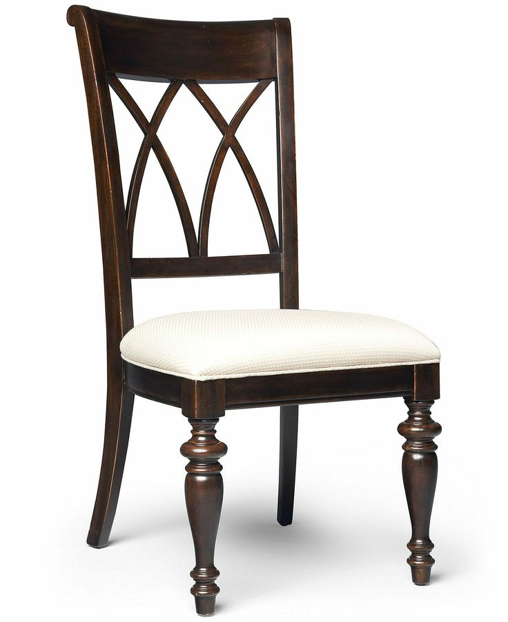 Bradford cross back side chair for Dining room end chairs