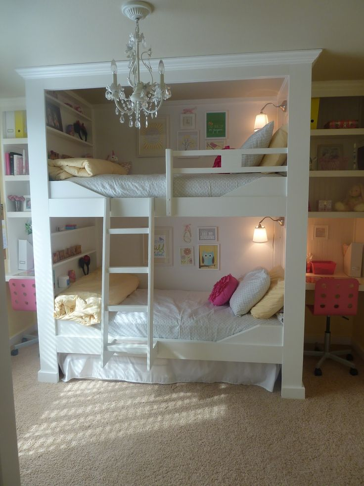 Elegant Kids Rooms with Bunk Beds