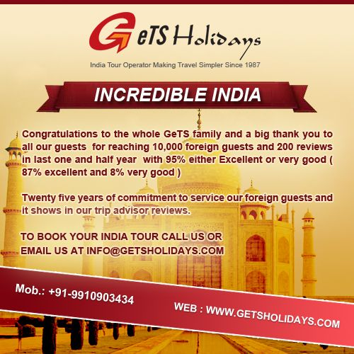 Gets Holidays reaches 10,000 foreign guests and 200 plus reviews on tripadvisor
