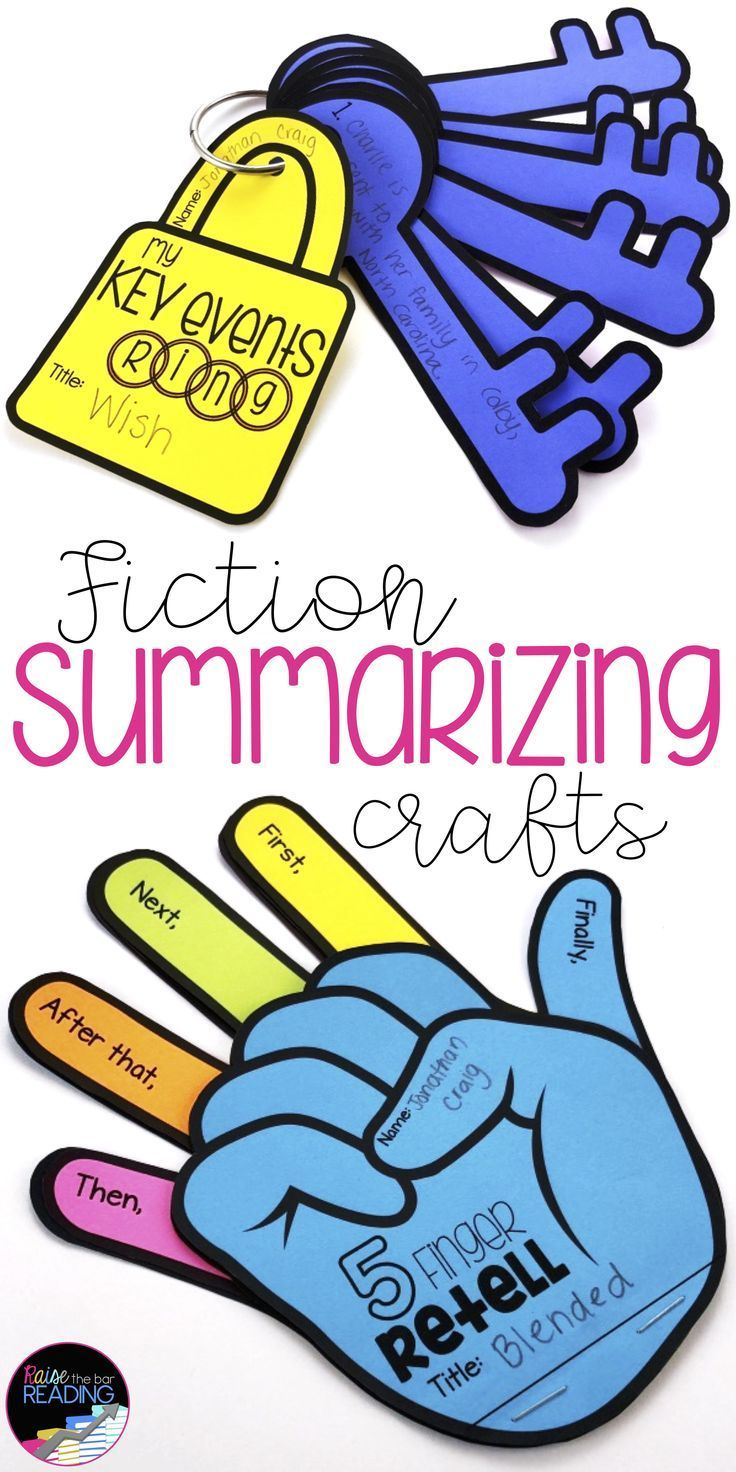Fiction Reading Crafts Set 3 Sequencing and Summarizing