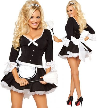 French Maid V-2673,christmas star costumes,reindeer outfit,fancy dress golf