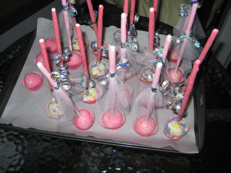 Princess Cake Pops with mini cupcake liners