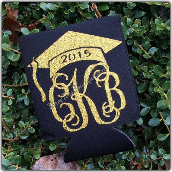 Monogram Class of 2015 Class of 2016 Koozie by ThreeTeesBoutique