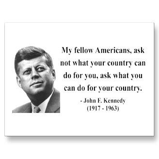 JFK Quote 3b Postcards--WISH THIS STILL HELD TRUE!