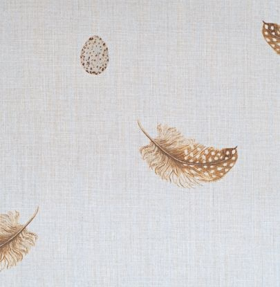 feather and egg fabric  from peony and sage UK