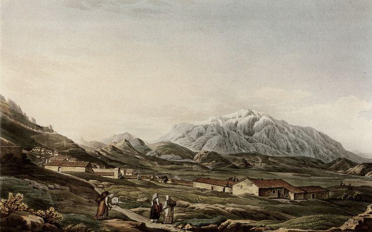 Ο Όλυμπος από τη Λάρισα. Χαλκογραφία από έκδοση του Ed. Dodwell, 24 x 39 εκ. - DUPRÉ, Louis - ME TO BΛΕΜΜΑ ΤΩΝ ΠΕΡΙΗΓΗΤΩΝ - Τόποι - Μνημεία - Άνθρωποι - Νοτιοανατολική Ευρώπη - Ανατολική Μεσόγειος - Ελλάδα - Μικρά Ασία - Νότιος Ιταλία, 15ος - 20ός αιώνας