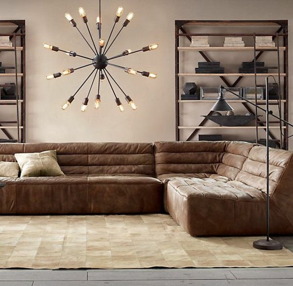 Moderne eckcouch leder  52 best Sofas images on Pinterest | Leather sofas, Modern leather ...