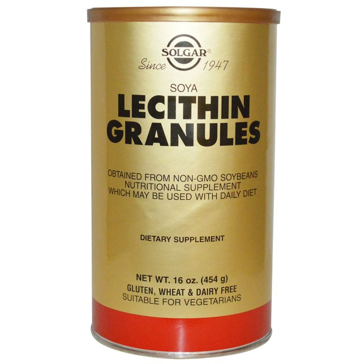 Solgar, Lecithin Granules, 16 oz (454 g) -  Гранулированный лецитин от компании Солгар — высокоочищенный, без ГМО, и очень вкусный.