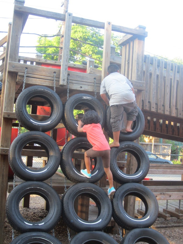 17 best images about playground on pinterest tire swings for Tire play structure