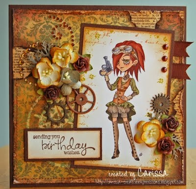 Tickled Pink Stamps Victorian Steampunk...I will have to try this.