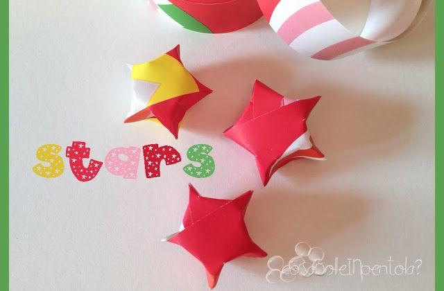 Riciclo carta da regalo. Stelle origami.
