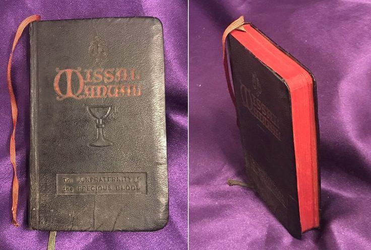 1937 CATHOLIC MISSAL MANUAL LEATHER BOUND HANDBOOK/C.F.B. REV. JOSEPH E STEDIMAN