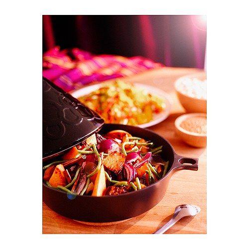 STIL Tajine IKEA Dikke wanden; verdelen de warmte gelijkmatig, zodat het voedsel van meerdere kanten wordt verwarmd.