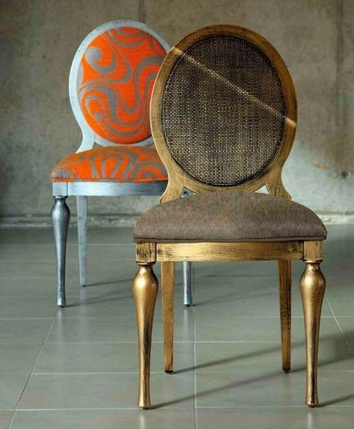 Las 25 mejores ideas sobre respaldos de sillas en for Sillas amarillas comedor