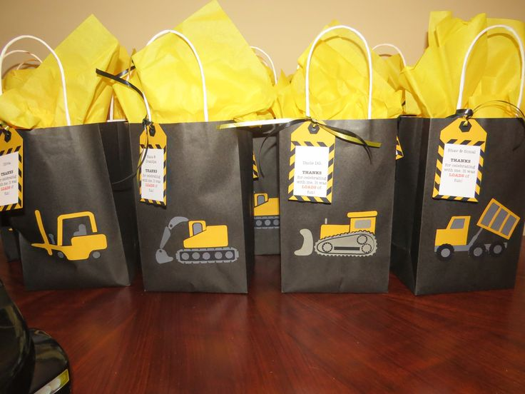 Construction Party Loot Bags For The Adults Cleaning Up