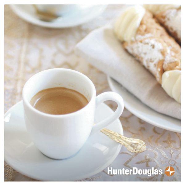 Nada como comenzar la mitad de la semana como nos merecemos! #HunterDouglas #Coffee #Cappuccino #Breakfast