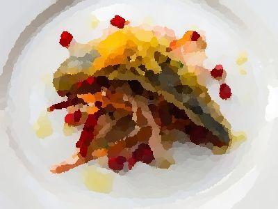 """""""Rauw vis gemarineerd in citrussap"""" Ceviche is de benaming voor rauwe vis of schaal- en schelpdieren die worden gemarineerd (en dus 'gegaard') in citrussap, en dan aangekleed worden met scherpe sma…"""