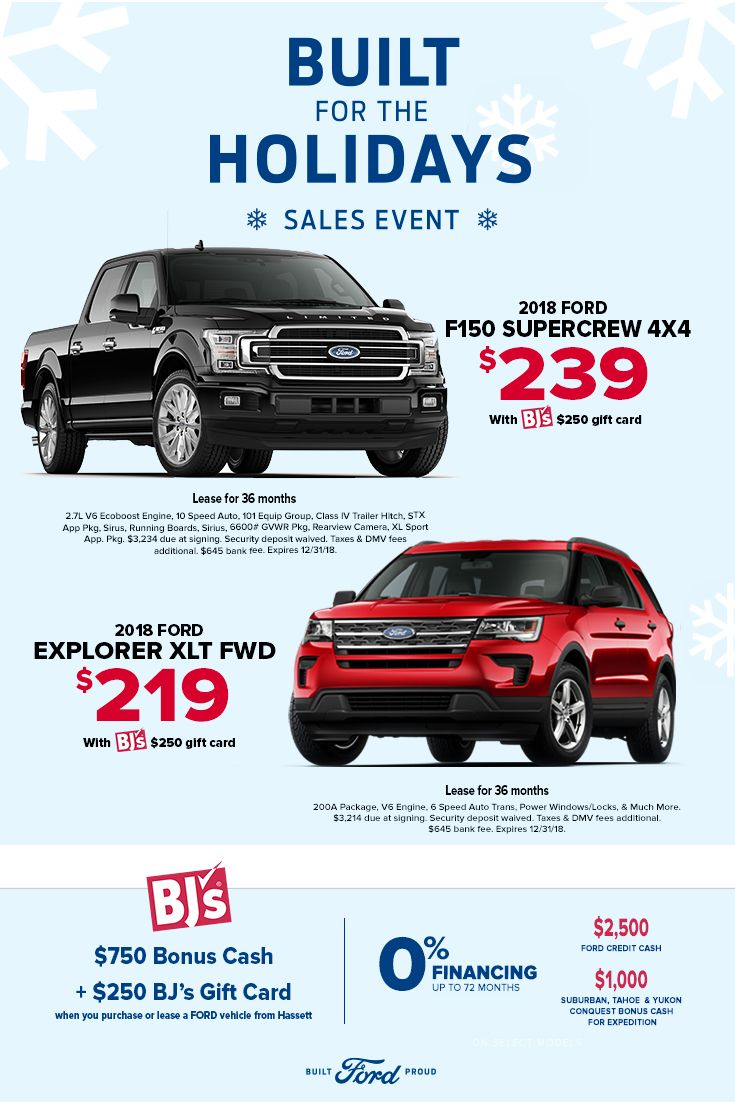 Hassett Holiday Specials Holiday Sales New Trucks Ford