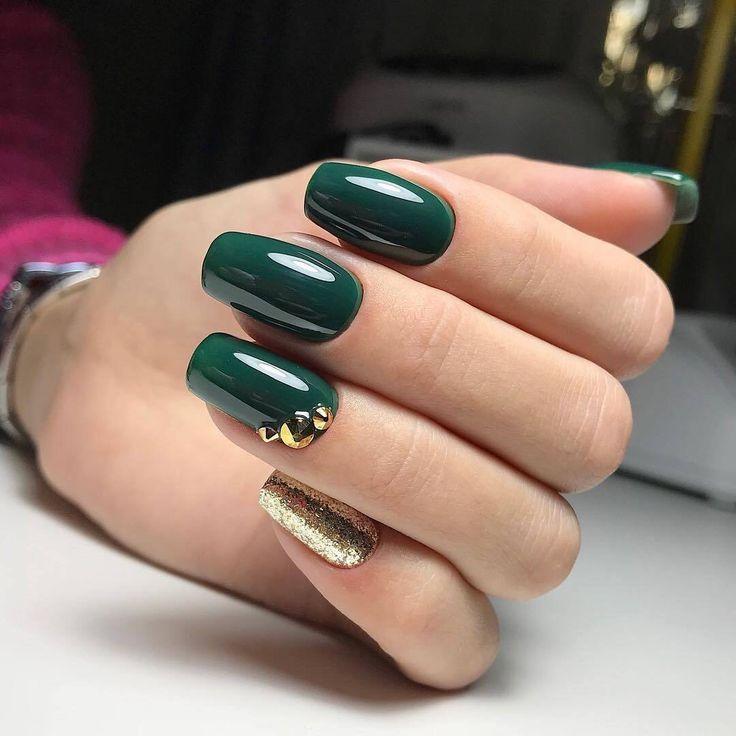 Uñas colir verde