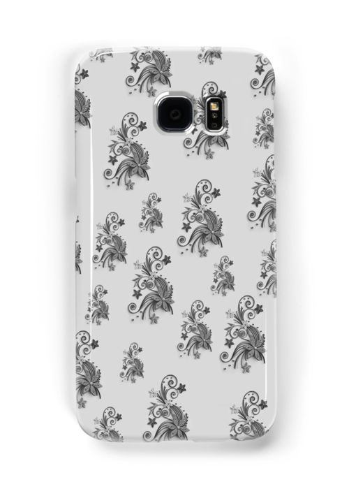 Gray, silver ornament, asymetric floral design by cool-shirts Also Available as T-Shirts & Hoodies, Men's Apparels, Women's Apparels, Stickers, iPhone Cases, Samsung Galaxy Cases, Posters, Home Decors, Tote Bags, Pouches, Prints, Cards, Mini Skirts, Scarves, iPad Cases, Laptop Skins, Drawstring Bags, Laptop Sleeves, and Stationeries