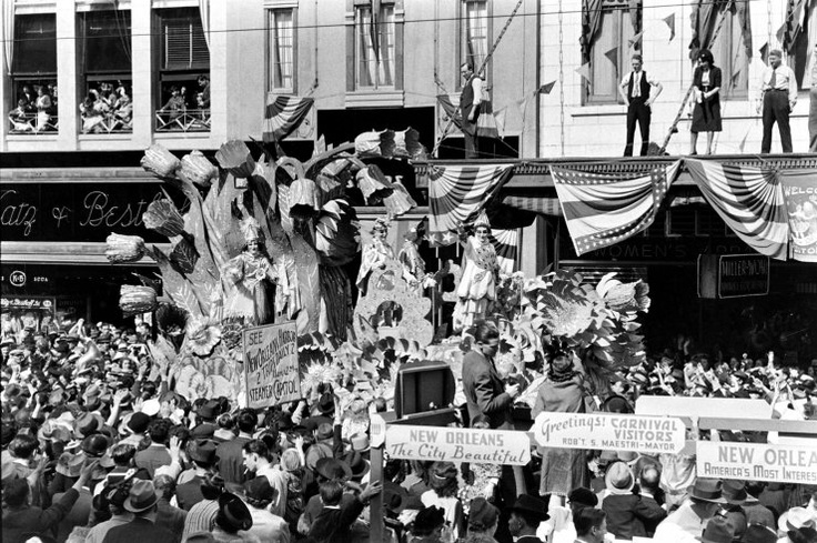 Mardi Gras circa 1938 from LIFE. Check them all out here: http://life.time.com/culture/mardi-gras-unpublished-photos-from-new-orleans-1938/#1