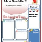 This is a welcome back to school newsletter format. Since it has been created on Powerpoint, you can easily add text boxes to add information. Hope...