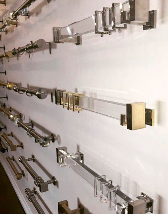 Beautiful And Modern Glamorous Square Lucite Curtain Rod With