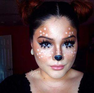 Cute Deer Makeup Look for Halloween