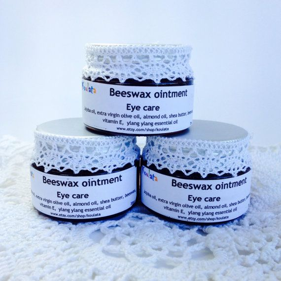 Eye treatment, no dark circles, moisturizing anti-aging beeswax-shea butter ointment. Facial care, natural product 20ml