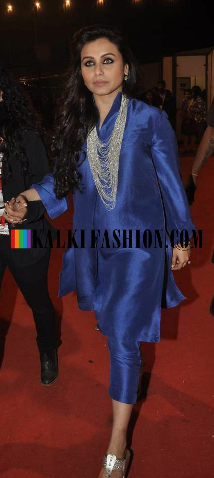http://www.kalkifashion.com/ Rani Mukjerjee attends the 2014 Umang Police Show in a blue kurti