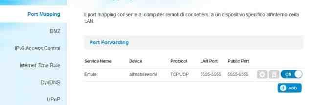 Tim Smart modem Sercomm Wi-Fi configurare porte Emule Bittorrent   Allmobileworld.it