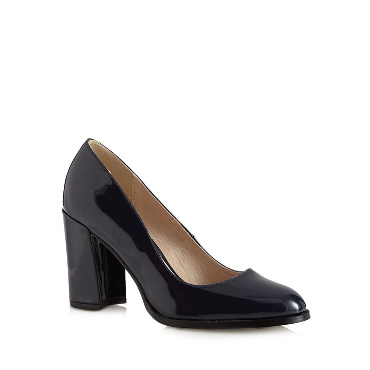 Great for day to evening, these classic smart court shoes come from our exclusive RJR.John Rocha designer range. In navy patent, they have been designed with a rounded toe and chunky high heel.