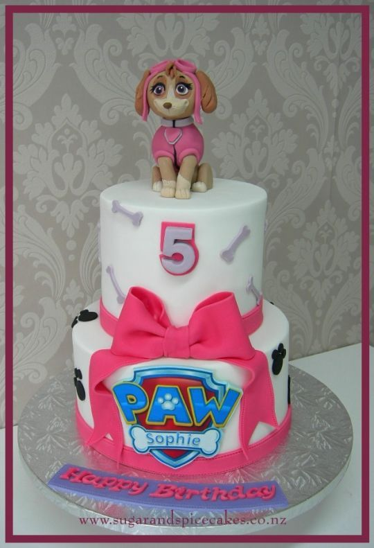 show me a PAW Patrol birthday cake with Sky - Google Search