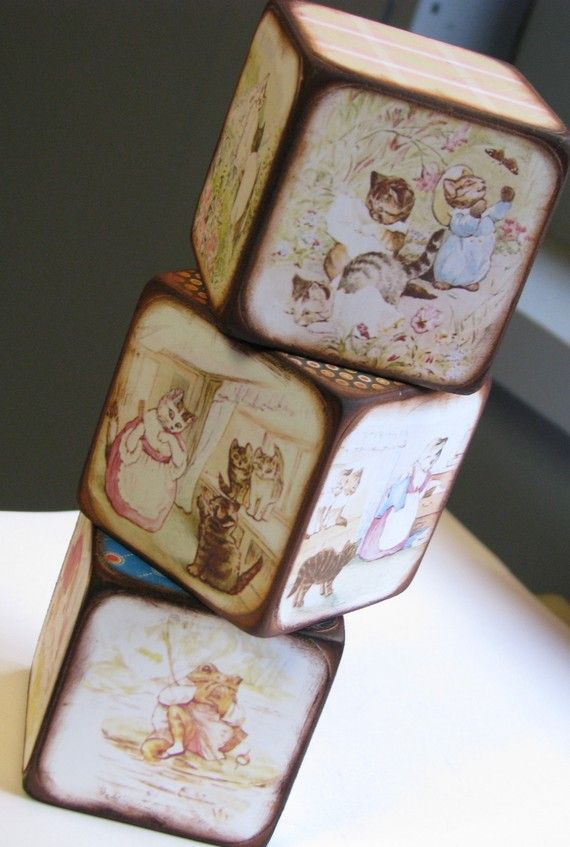 Beatrix Potter blocks. The website says that Peter Rabbit characters are also available. :)