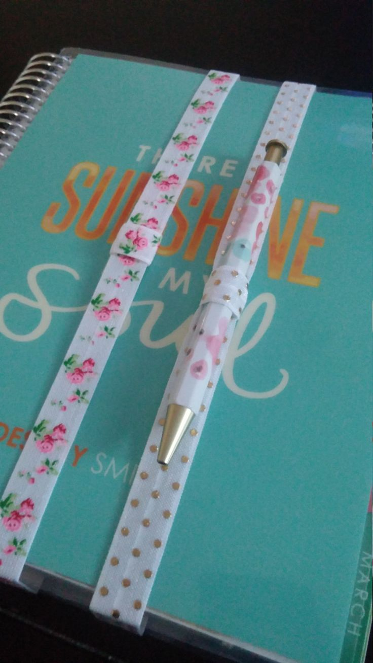Planner Bands with Pen Loops - You Choose Print - Planner Accessories for Erin Condren, Happy Planner, Kikki K, Filofax, Kate Spade & more by DestinyMarieDesigns on Etsy