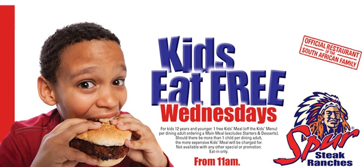 #kids eat for FREE at #spur on Wednesday's! How AWESOME